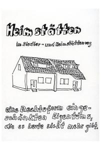 Daniela Brahm, Siedlung Heimstättenweg, Selbsthilfekolonie aus den 1950ern