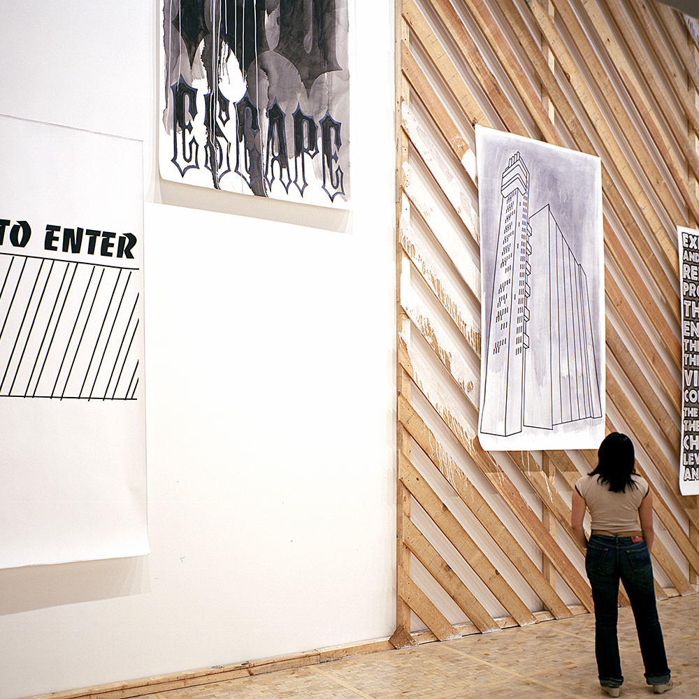 Daniela Brahm, Proclamation Wall, 2006 in: Asterism. Artists living in Berlin, Museo Tamayo, Mexico D.F.